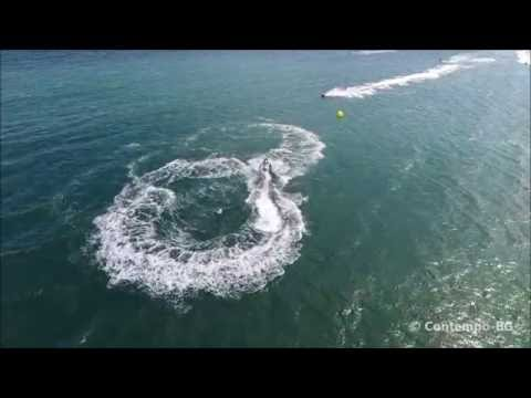 Jet ski and parachute drone footage by Contempo-BG, Sunny Beach, Bulgaria