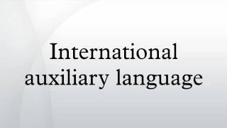 International auxiliary language