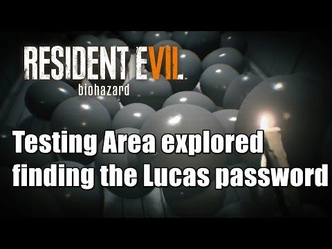 Resident Evil 7 biohazard - Testing Area explored finding the Lucas password
