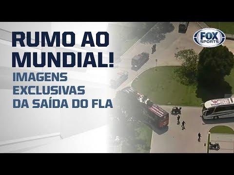 AEROFLA RUMO AO MUNDIAL! Veja Imagens Exclusivas Da Saída Do Flamengo Rumo Ao Aeroporto
