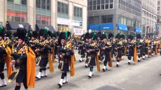 NYPD Pipes and Drums NYC St Patrick's Day Parade 2015