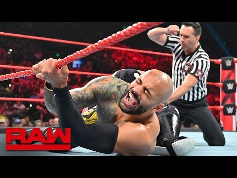 Ricochet Vs. Samoa Joe – King Of The Ring Quarterfinal Match: Raw, Sept. 2, 2019