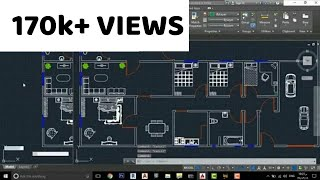 Complete  Plan In AutoCAD Only By Using Shortcut keys(AutoCAD Tips and Tricks) Tutorial#3