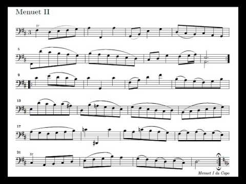 J. S. Bach Cello Suite n. 2 BWV 1008 - 5. Menuet I and II - Piano Transcription [tbpt4]