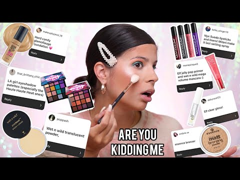I Tried YOUR Drugstore Hidden Gems... were they a flop?