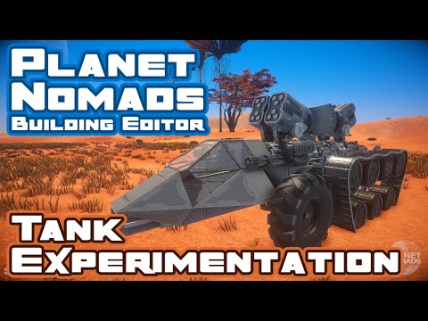 Let's Build A Tank! - Planet Nomads Building Editor Demo - Let's Play Part 1