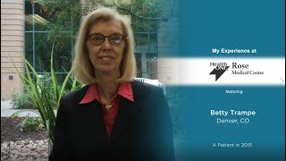 Betty Trampe Shares Vulvar Cancer Survival Story | Rose Medical Center