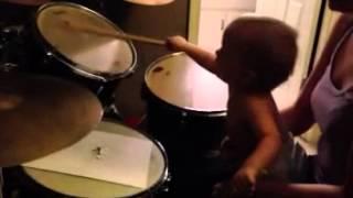 Little drummer boy at 14 months