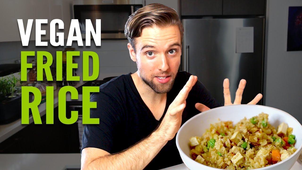 Tasty Vegan Fried Rice with Tofu