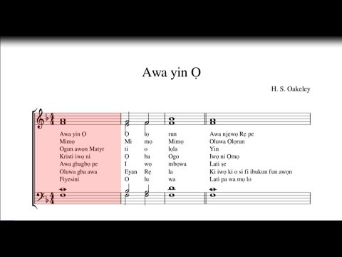 Download Awa Yin O Music Sheet - Te Deum Canticle Music...