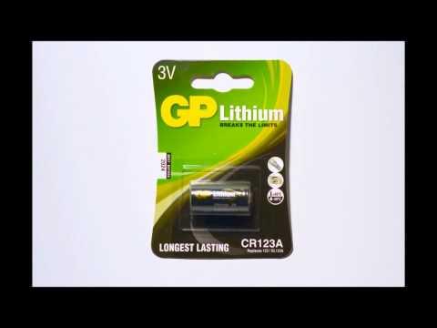 GP CR123A Lithium batterij