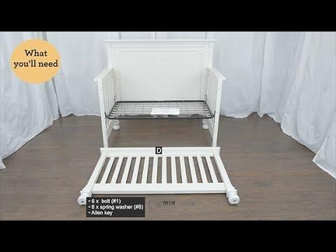 Bertini Vernay 5 In 1 Convertible Crib Assembly