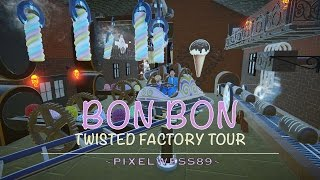 Bon Bon, Twisted Factory Tour - Planet Coaster [Spinning coaster]
