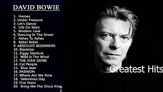 Greatest Hits David Bowie 2017   David Bowie Best Songs.