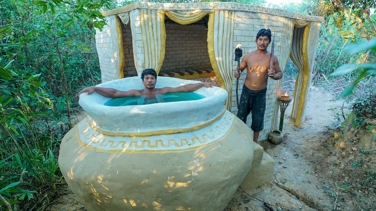 Build The Most Temple House Living Room With Temple Bath Pools