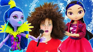 Видео с куклами – Новый образ для Вечеринки Сказочного Патруля! - Игры макияж и одевалки для девочек