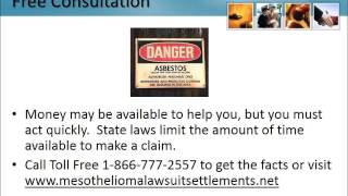 Mesothelioma Claims New Jersey 1-866-777-2557 Asbestos Lawsuit Nj Lung Cancer Attorneys