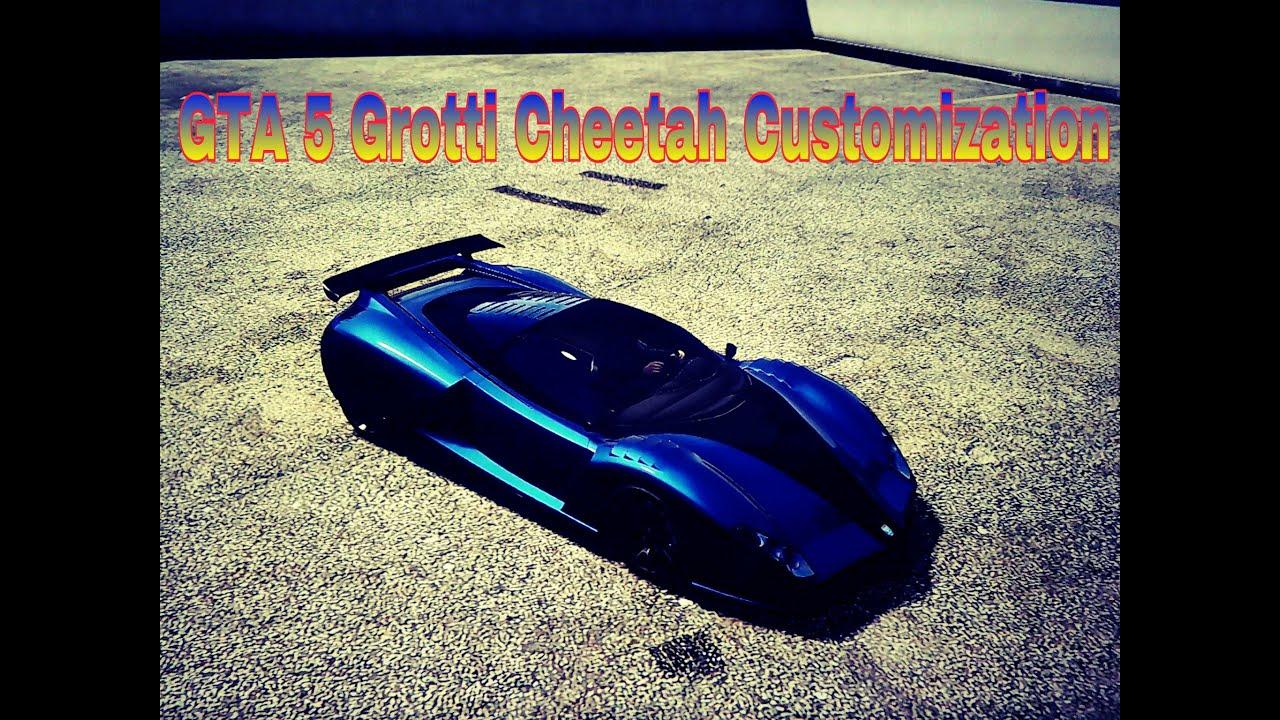 grand theft auto 5 grotti cheetah customization youtube