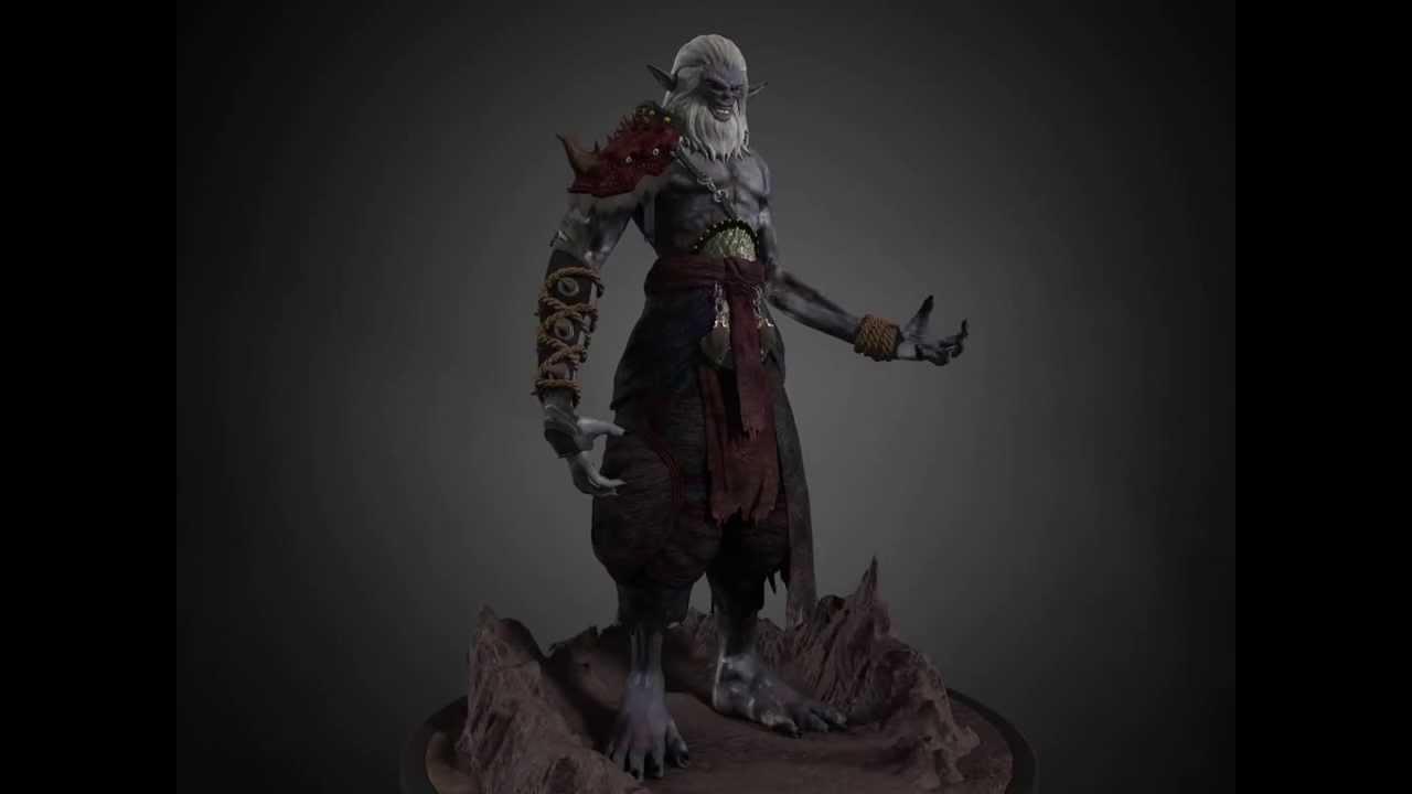 old samurai 3d character modeling reel youtube