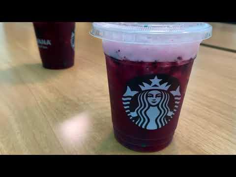 Starbucks Very Berry Hibiscus Drink Youtube