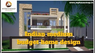 Indian medium budget home design best of Aug 2017 | house plans and designs.