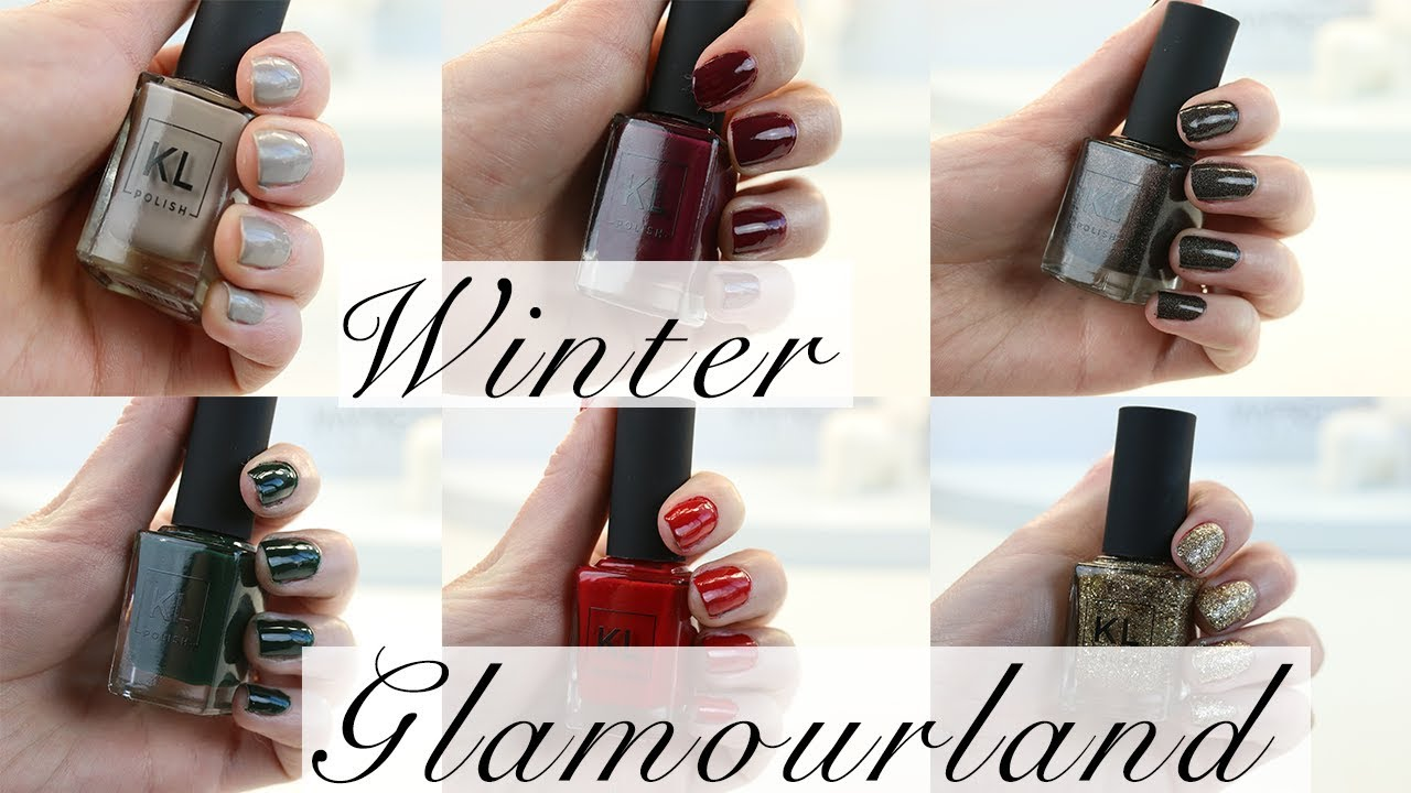WINTER Glamourland | KL Polish | Nail Swatches on Fair Skin - YouTube