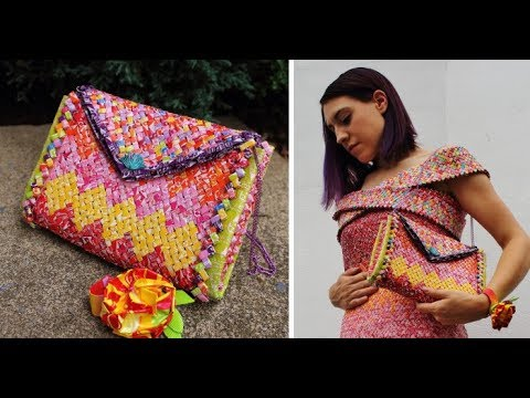 She Made A Purse And Heels To Match The Dress Made Of 10k Starburst Wrappers | Muhammad Waqas