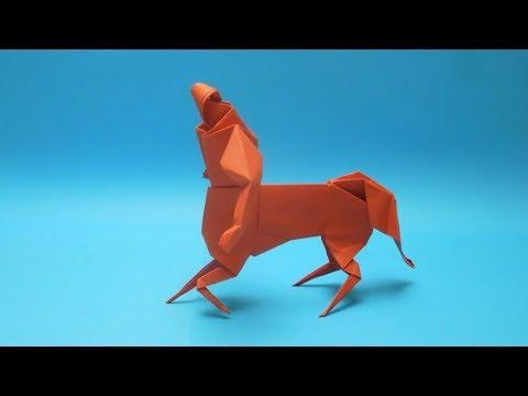 Cara Membuat Centaur Dari Kertas. Origami Centaur