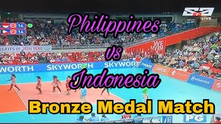 SEA GAMES 2019: Philippines vs Indonesia Set 5 Bronze Medal Match| Women's Volleyball |Dec. 9,2019