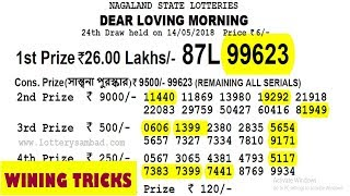 Win 26 lakhs nagaland lottery with my tricks & lucky number