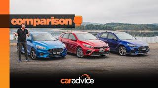 COMPARISON: 2019 Ford Focus ST-Line v Hyundai i30 N-Line v Kia Cerato GT