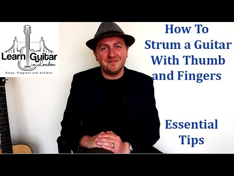 How To Strum a Guitar Without a Pick (Thumb + Fingers) - Beginner Guitar Lesson - Drue James