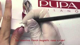 Tutorial Nail Art per San Valentino french magnetic rosso e cuori a mano by Maddafashion