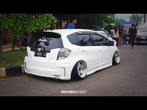 Modifikasi Honda Jazz Ge8 Putih With Airsuspension Keren Abis