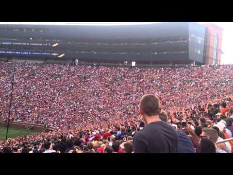 Manchester United Vs Real Madrid Aug 2nd 2014 Michigan Stadium.  Amazing human wave!!
