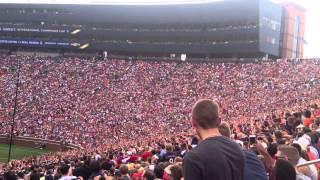 Manchester United Vs Real Madrid Aug 2nd 2014 Michigan Stadium.  Amazing human wave!!