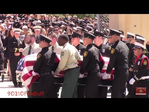 Funeral Procession for Fallen LAFD Firefighter Kelly Wong