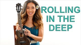 Rolling in the Deep - Adele - Ukulele Tutorial with Play Along