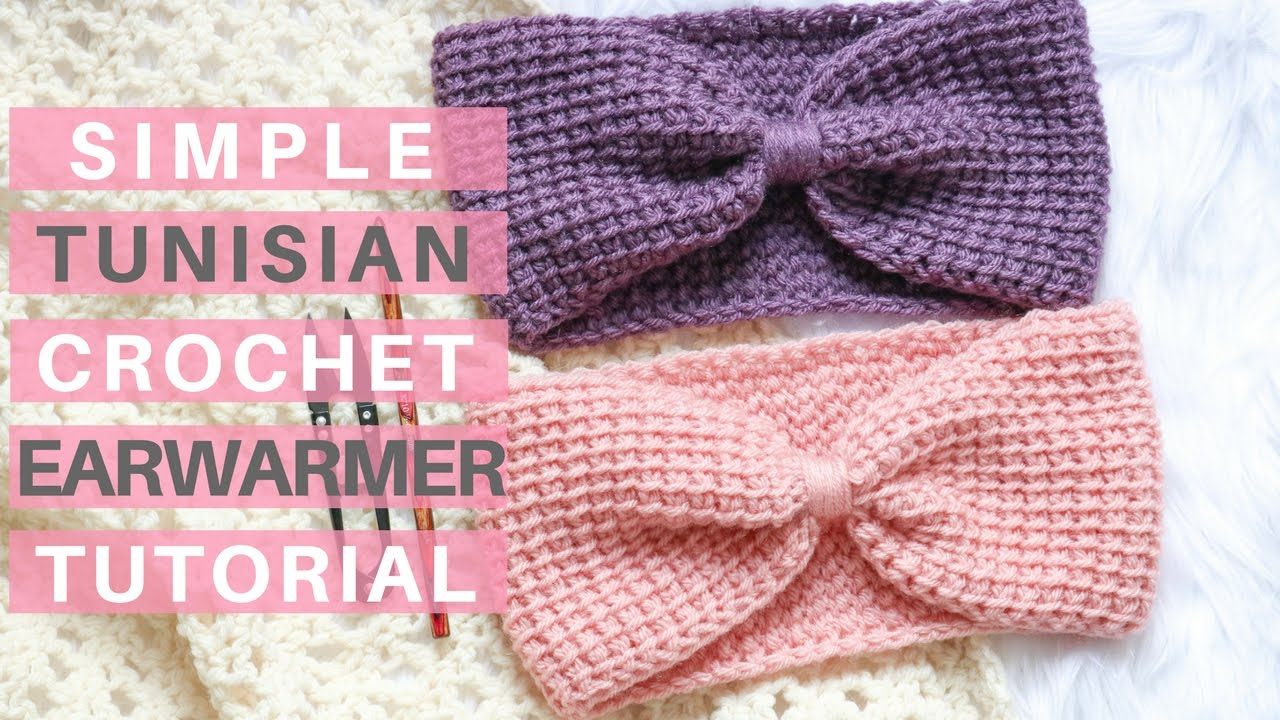 Simple Tunisian Crochet Ear Warmer *Pattern and Tutorial*