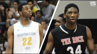 Joel Embiid Vs. Andrew Wiggins High School Game Highlights