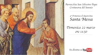 Dalla chiesa san silvestro papa di civitanova del sannio, diretta della santa messa nella iv domenica quaresima