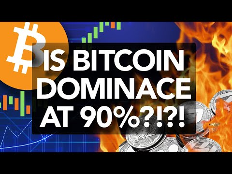 Is BTC Dominance 90%? NEW Data Says So! Alt Recovery? When!?