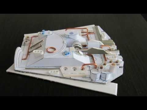 Papercraft Falcon Millenium paper model vol. 3