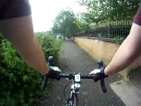 Pleasant Summer bike ride along the Thames in Reading