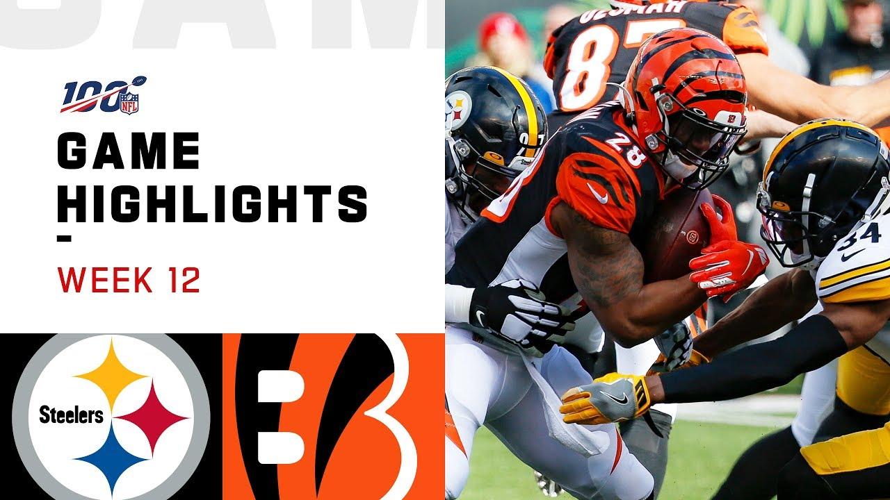 Steelers Vs Bengals Week 12 Highlights Nfl 2019