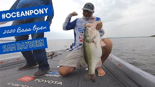 Gleason catches a Mid-day OceanPony during the Bass Open at Sam Rayburn (Sept 2020)