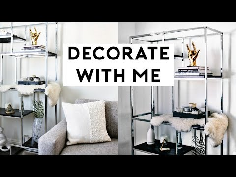 DECORATE WITH ME! HOW TO STYLE BOOKSHELVES (MINIMAL & TRENDY ROOM DECOR) 2018