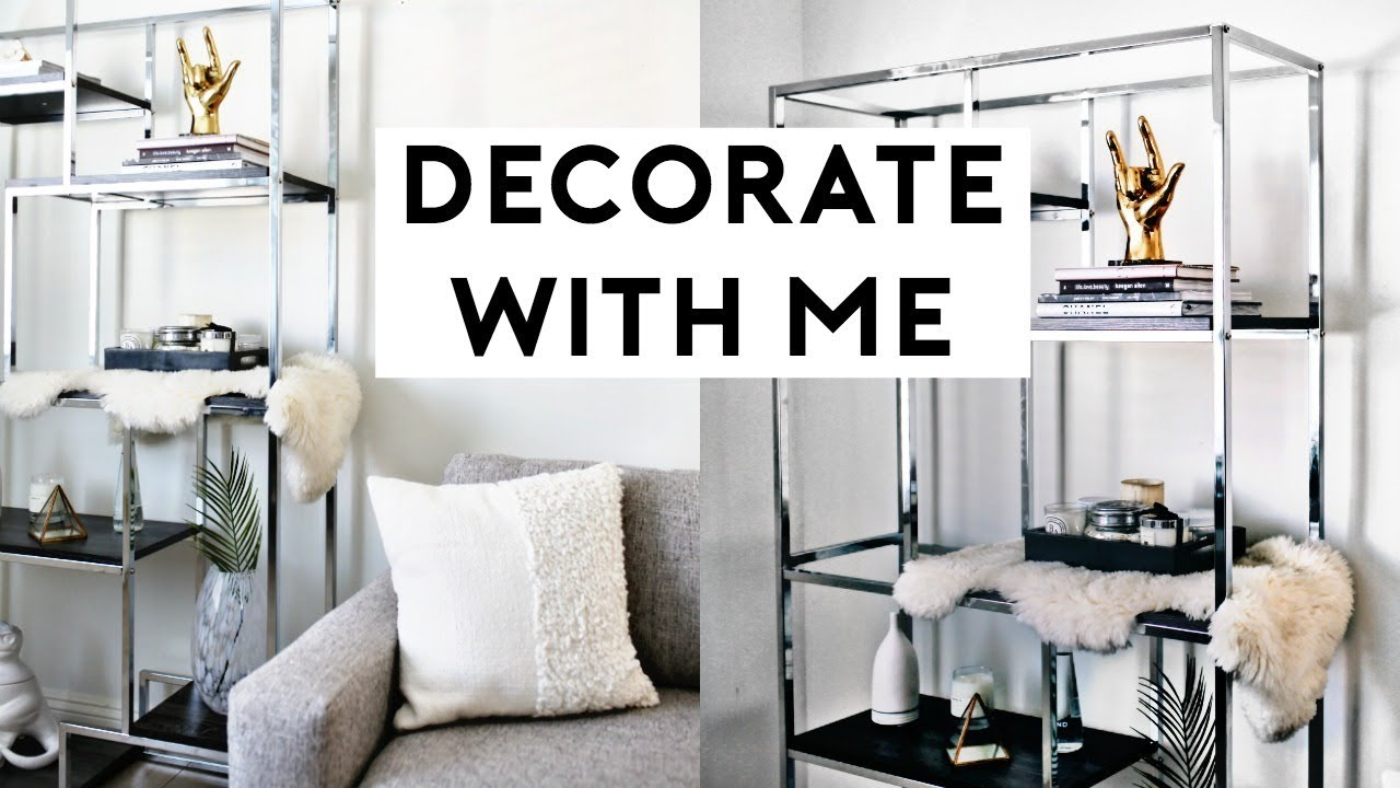 DECORATE WITH ME! HOW TO STYLE BOOKSHELVES (MINIMAL ... on Trendy Room  id=98283