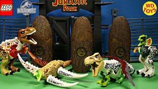 New Lego Dinosaur 11 Hybrid Surprise Eggs Jurassic World 11 Mutant, Freak Dino Zoo Playset  Unboxing