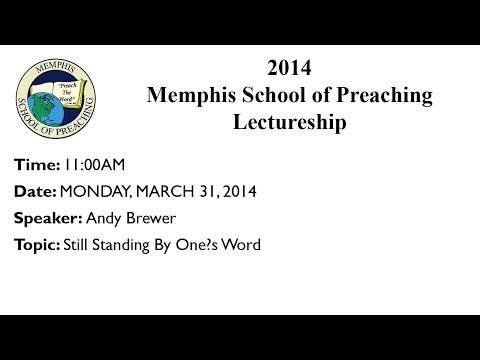 2014-03-31 11:00AM - Andy Brewer - Still Standing By One
